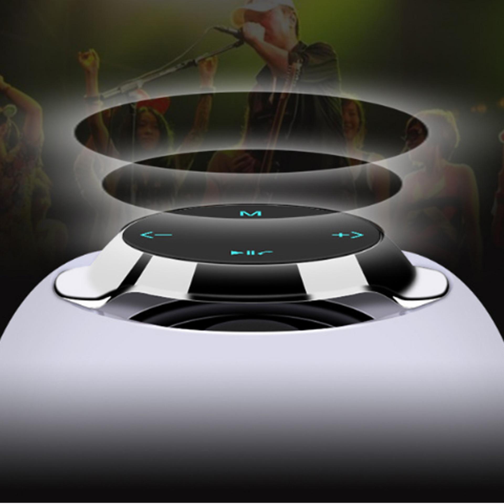 Loa Di Động Bluetooth Đèn Led Đổi Màu A1-1 + Tặng Tai Nghe Bluetooth Nhét Tai (Màu Ngẫu Nhiên)