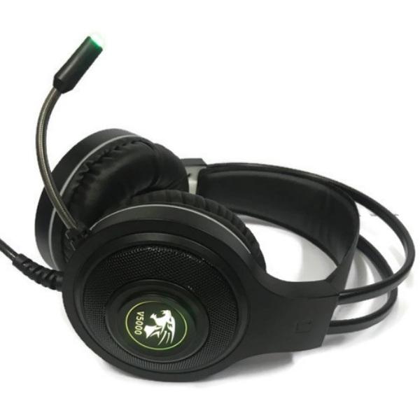 Tai nghe chơi game chụp tai (Headphone Gaming) V5000 Led Đổi Màu