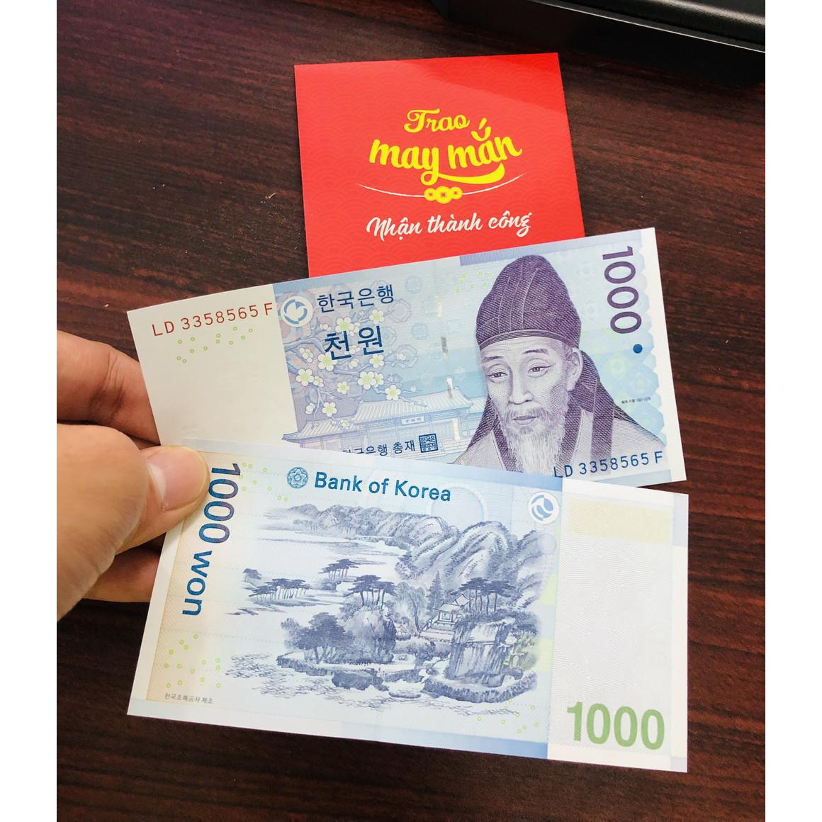 Tờ tiền cổ Hàn Quốc 1000 Won, bổ sung bộ sưu tập của bạn -100-70