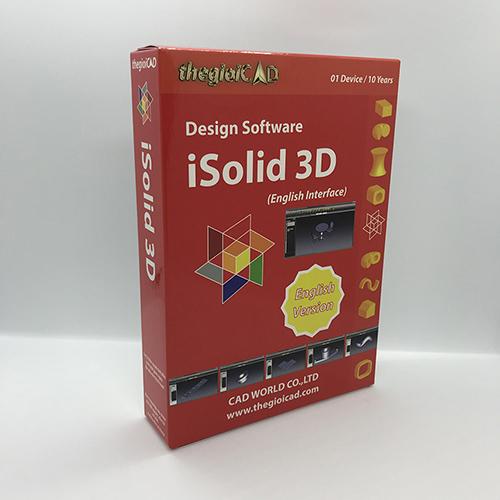 Phần mềm thiết kế iSolid 3D phiên bản tiêu chuẩn – Giao diện tiếng Anh