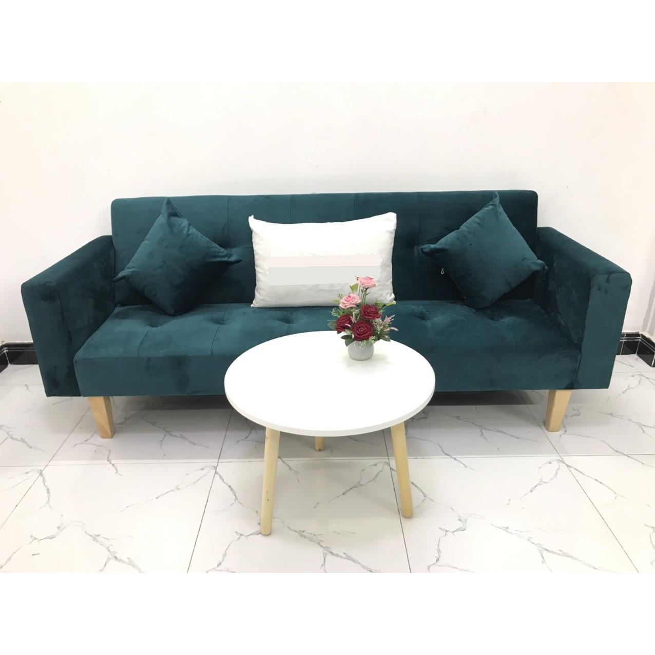 Bộ ghế sofa giường sofa bed tay vịn phòng khách salon linco11