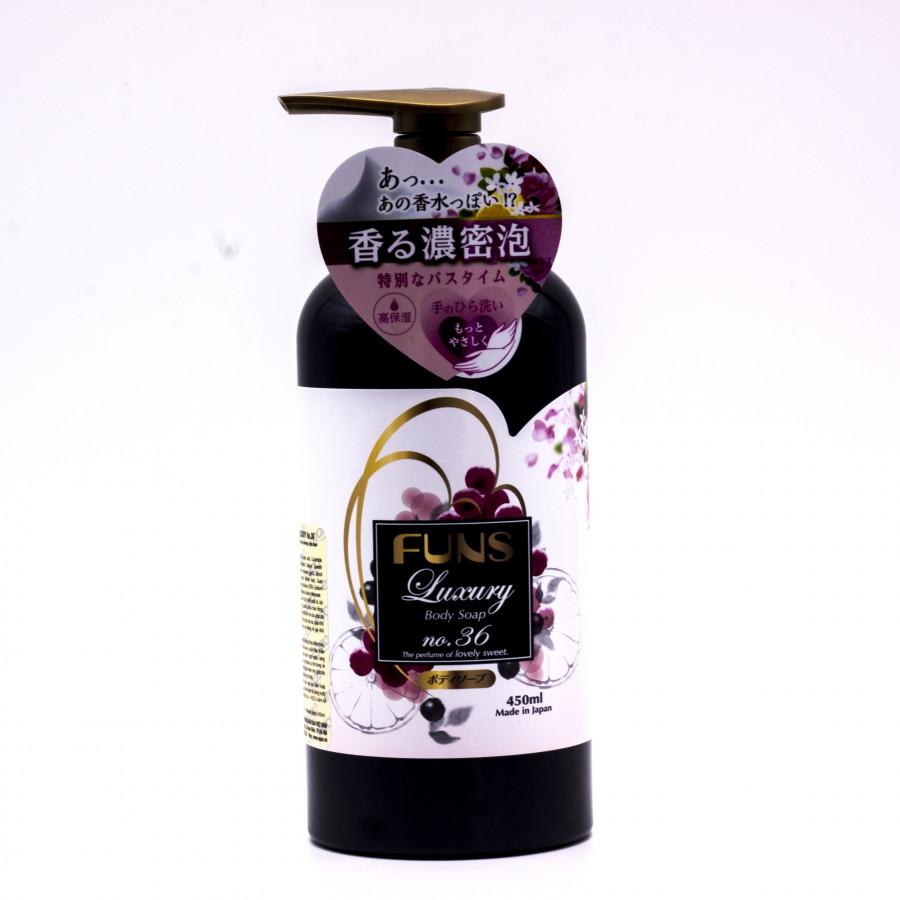 Sữa tắm trắng Nhật Bản Funs Luxury Body NO.36 450ml