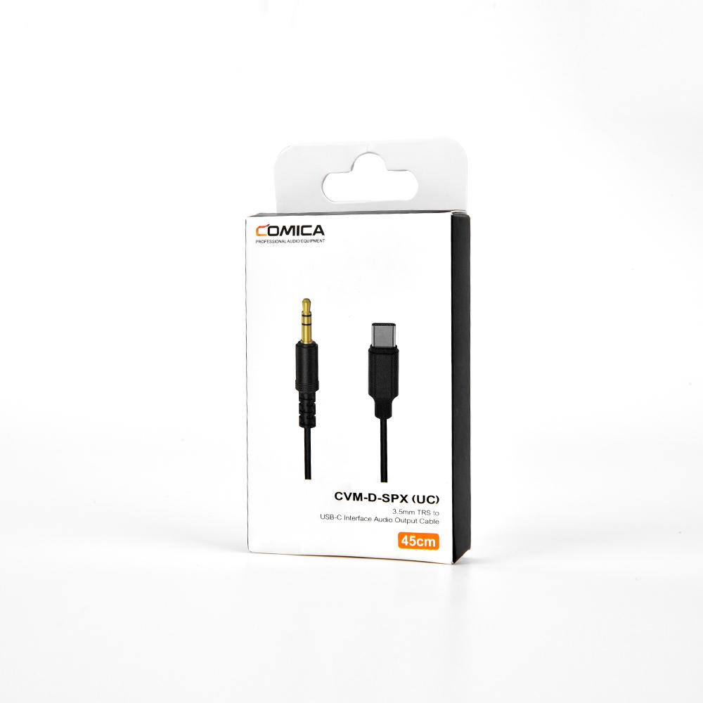 Comica CVM-D-SPX (UC)-Cáp Nối Transmitter Cho Điện Thoại Android Type C, Cáp Dài 45cm, Tương Thích Với Cổng Type-C - Hàng Chính Hãng