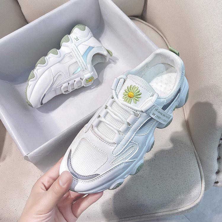 Giày thể thao nữ hoa cúc cao cấp thoáng khí