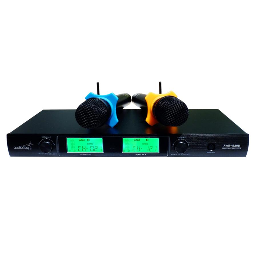 Bộ Micro Karaoke Không Dây AudioFrog AWR-820D - Hàng Chính Hãng