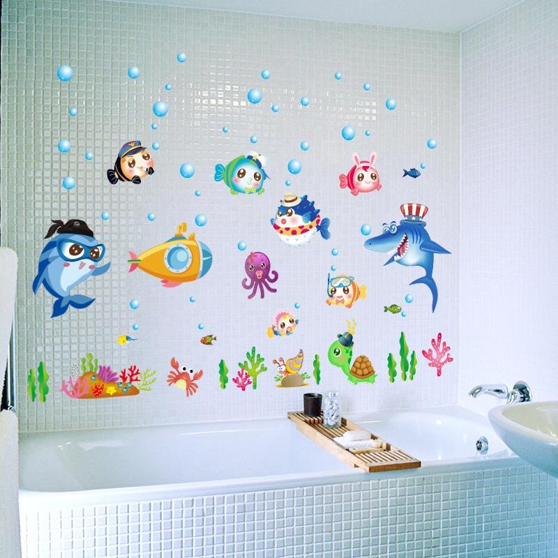 Decal dán tường Cá đại dương 7 Trang trí phòng cho bé đẹp