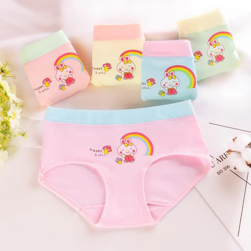 set 4 quần chip lửng kute dễ thương,loại cao cấp mềm mại thoáng mát mùa hè cho bé gái 3-10 tuổi