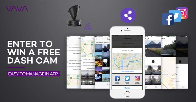 Camera Hanh Trinh VAVA CD-001 | WIFI + GPS hinh anh 4