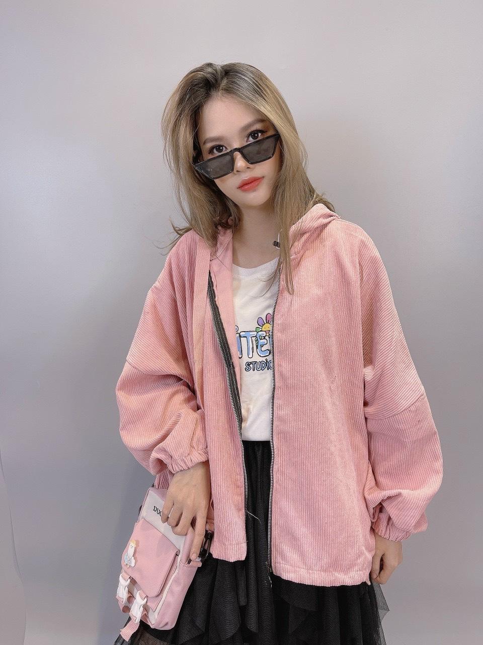 Áo khoác vải Nhung form ĐẠI cánh dơi chống nắng sành điệu TiH071