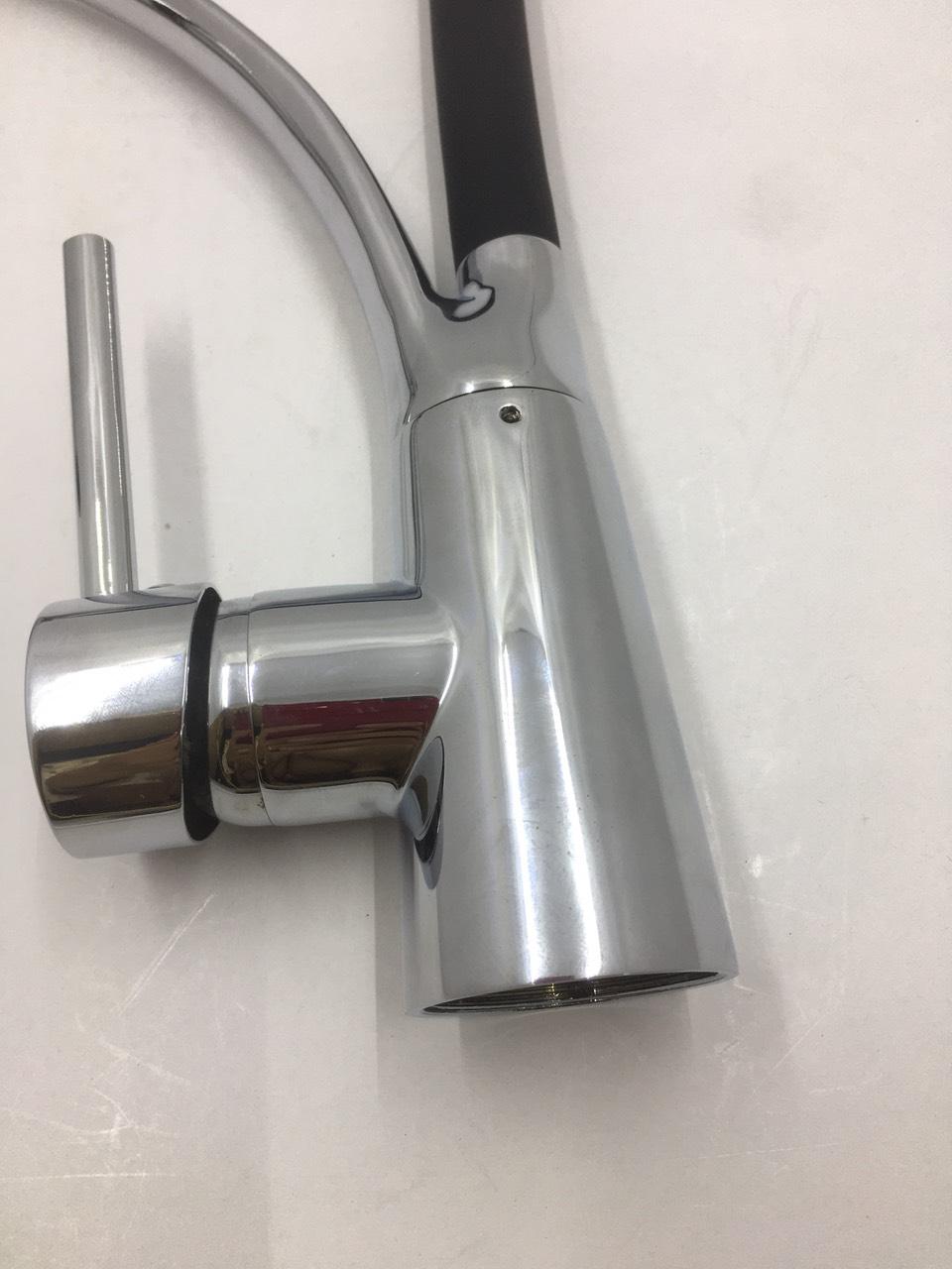 Vòi Chậu Rửa Bát Silicol Đen Cao Cấp - Vòi Chậu Rửa Bát 2 Chiều Nóng Lạnh