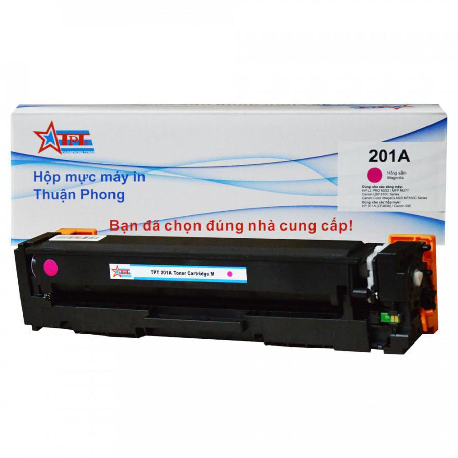 Hộp mực Thuận Phong 201A dùng cho máy in màu HP M252  MFP M277  Canon LBP 610C Series - Hồng Sẫm - Hàng Chính Hãng