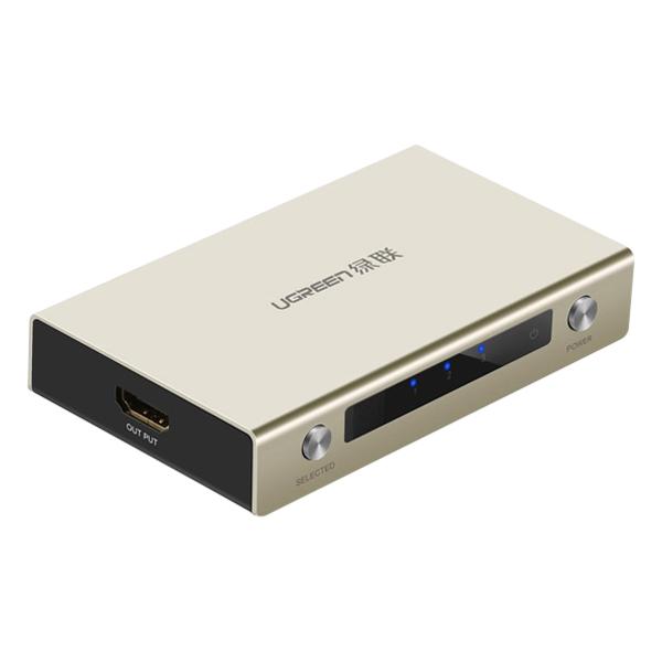 Bộ Swich Cổng HDMI Ugreen Vào 3 Cổng HDMI Ra 1 Cổng HDMI Remote 40278 - Hàng Chính Hãng