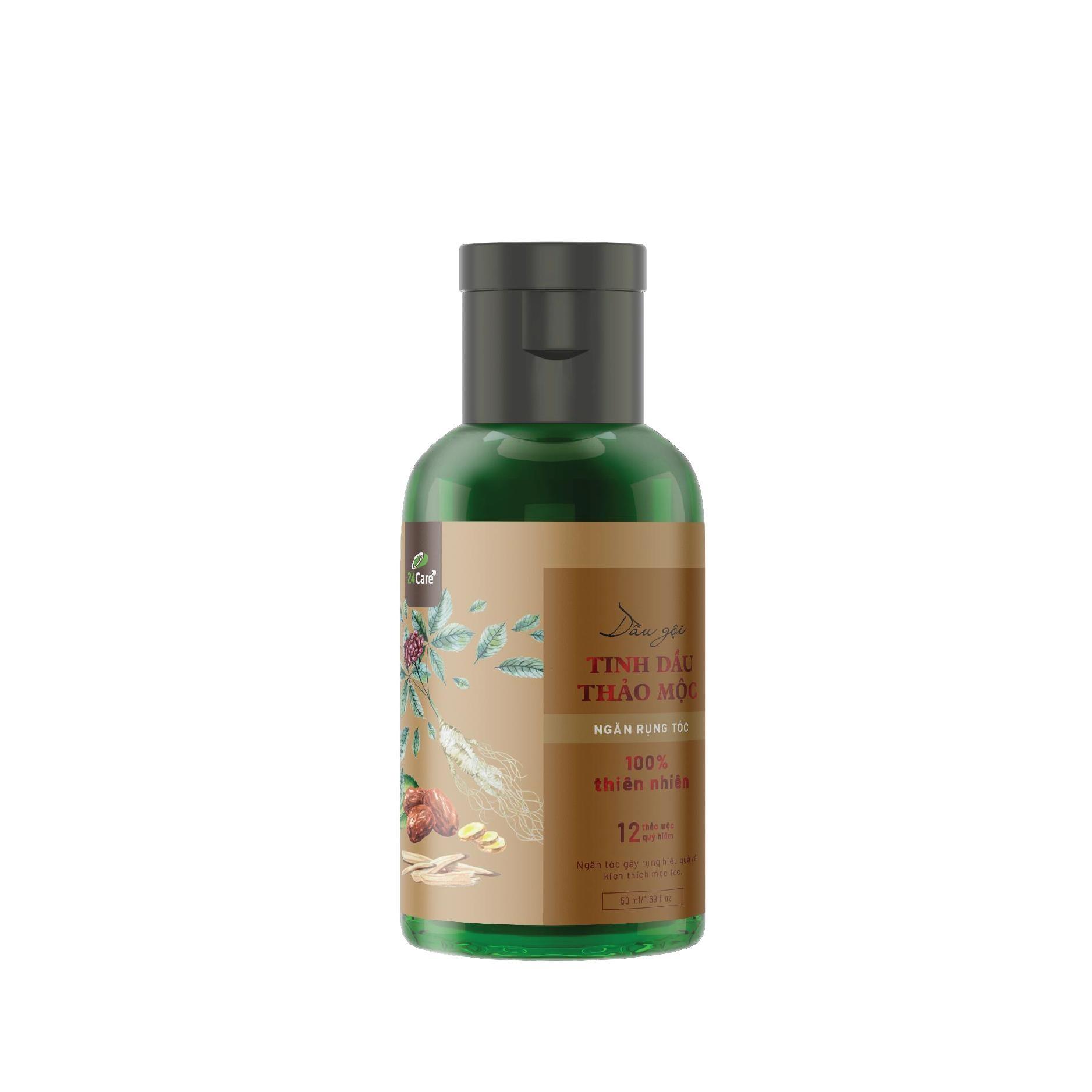 Dầu gội Tinh dầu thảo mộc Ngăn rụng tóc 24Care - Dành cho Nam - chiết xuất từ tinh dầu thiên nhiên