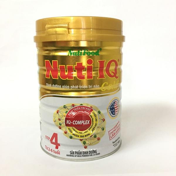 Nuti IQ Gold Step 4 900 gr : sữa tăng cường DHA cho trẻ 2-6 tuổi phát triển trí não, thị giác