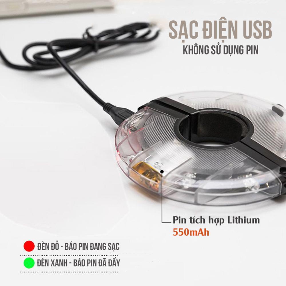 Đèn Led Gắn Bánh Xe Đạp 7 Màu (Trục Giữa phi 19-36mm) Có Sạc Điện USB Chống Nước Trang Trí Cho Xe Đạp Người Lớn Mai Lee