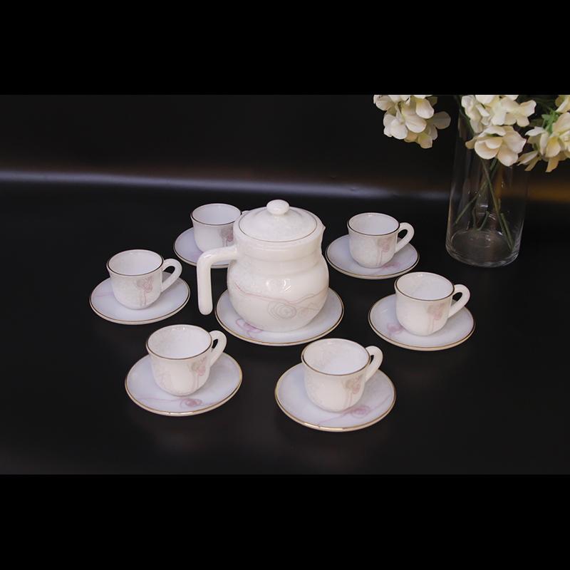 Bộ ấm trà Thủy tinh ngọc MP USA Homeset P3066HLPLD