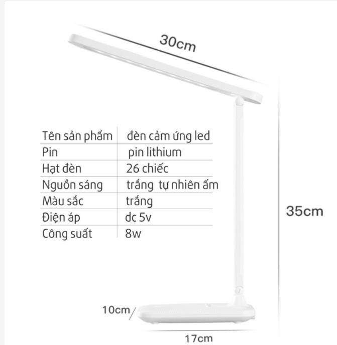 Đèn học để bàn bảo vệ mắt - Chống cận thị - Tùy chỉnh ánh sáng, sạc USB pin tích điện 4000 mAh