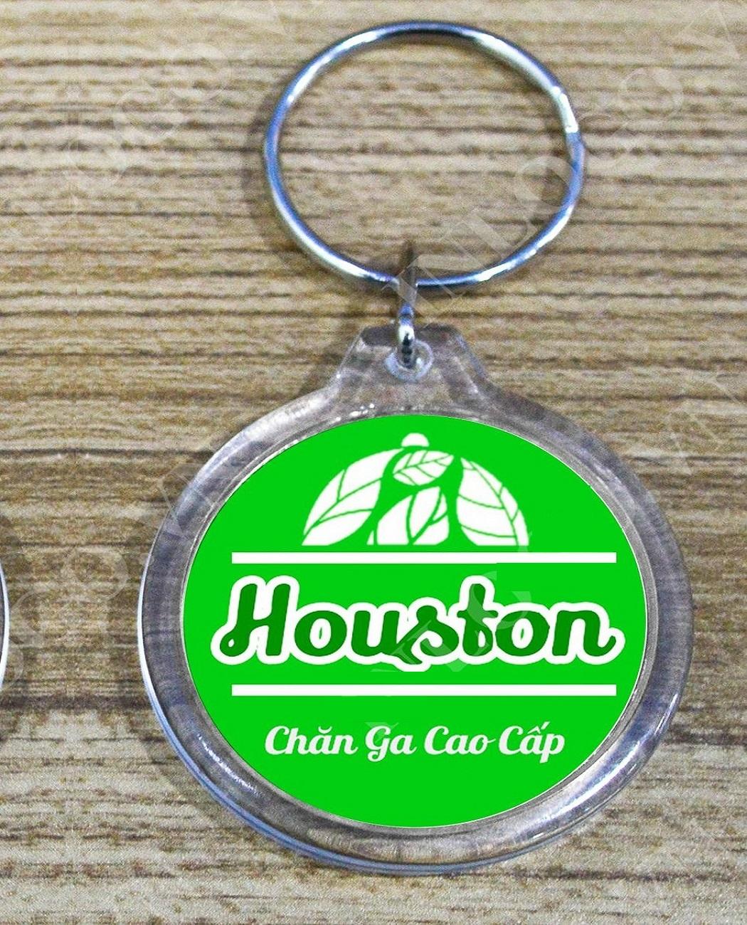 Gối cao su non người lớn - Sọc Nâu - Tặng kèm 1 móc khóa Houston