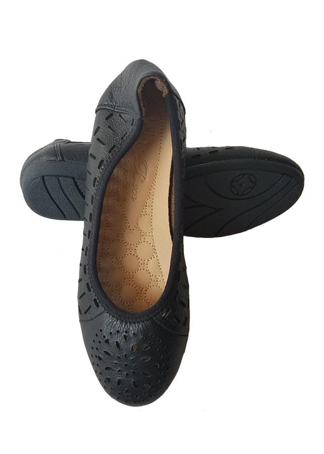 Giày Búp Bê BIGGBEN Da Bò Thật BB02