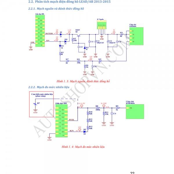 Tài liệu phân tích sửa chữa - Công nghệ LCD, LED cho xe máy