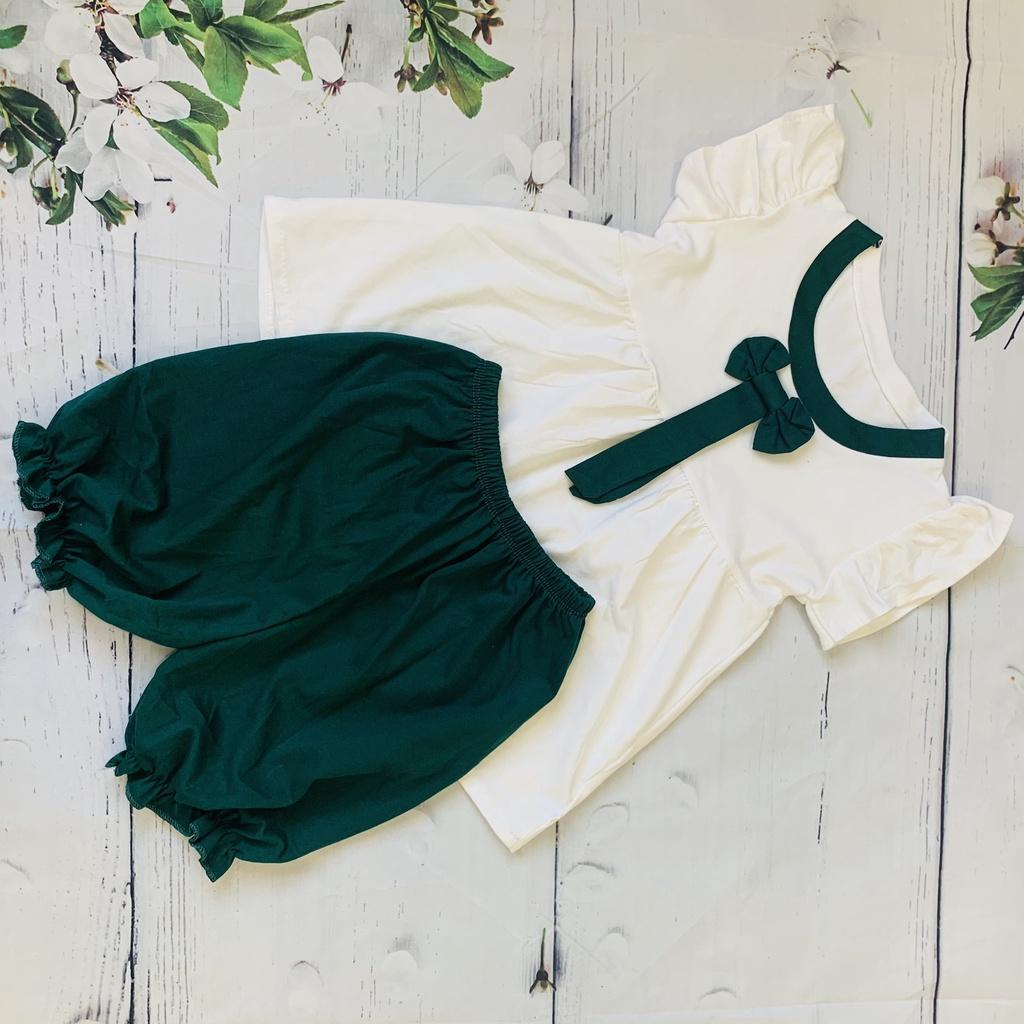 Quần áo bé gái dáng áo váy quần bo chun chất cotton mềm mịn cho bé từ 5-20kg