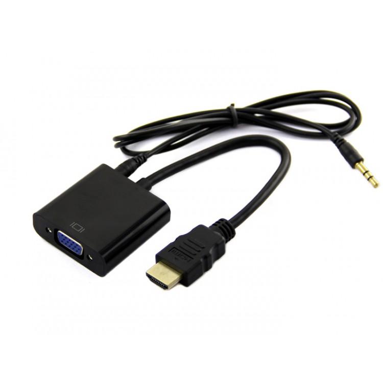 Cáp HDMI Ra Vga Có Âm Thanh - Dùng Cho Laptop, Android Box