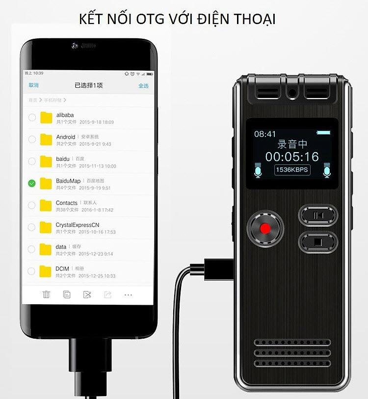 Máy Ghi Âm Chuyên Nghiệp GH-Q6 8G Màn Hình LCD Tích Hợp Loa Ngoài - Có Hỗ Trợ Nghe Nhạc MP3 AnZ