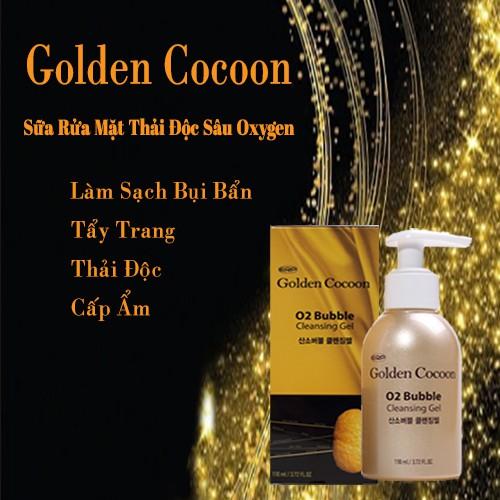 Combo Dưỡng Da Chống Lão Hoá Kén Tơ Tằm Vàng Golden Cocoon O2 Bubble Cleansing Gel And Capsule Cream