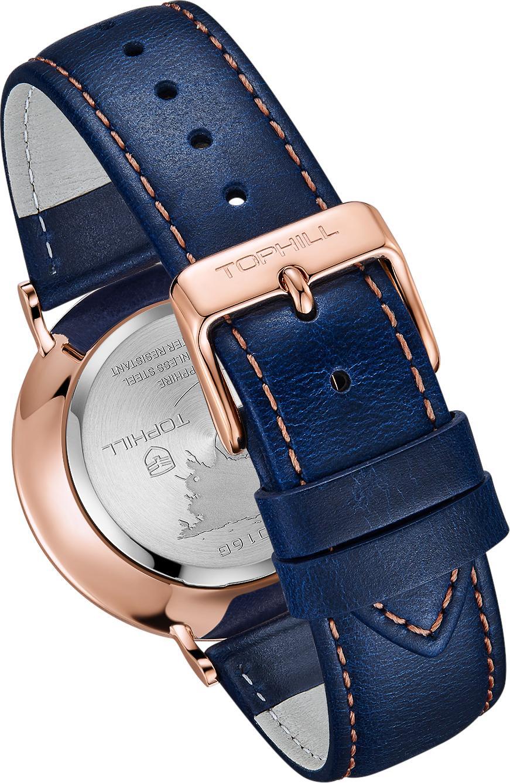 Đồng hồ nam dây da cổ điển thương hiệu Thụy Sĩ TOPHILL TS016G.PL3352