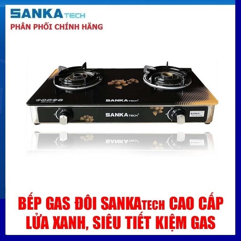 Bếp Ga Đôi Cao Cấp SANKAtech SKT 665BB Điếu đúc gang Sen đồng - Hàng chính hãng