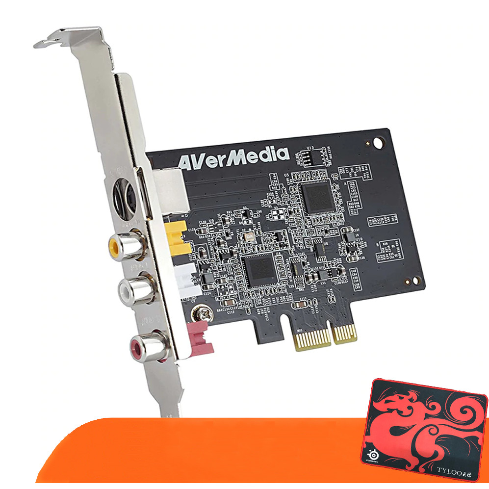 Card Chuyển Đổi PCI Ex sang AV, S-Video Avermedia C725 Tặng Kèm Tấm Pad Chuột Cao Cấp AZONE - Hàng Nhập Khẩu