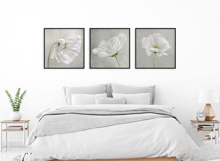 Bộ 3 Tranh Hoa Cúc Thạch Thảo