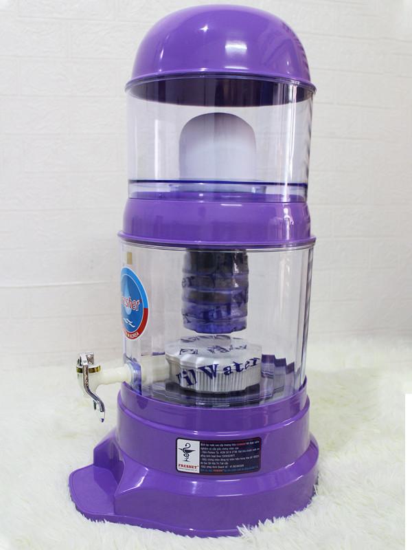Bình lọc nước gia đình cao cấp Freshet Hàn Quốc chính hãng màu tím 16 lít