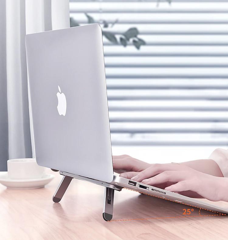 Giá đỡ laptop giúp tản nhiệt hiệu quả dạng dán xếp gọn tiện lợi D8-T2997