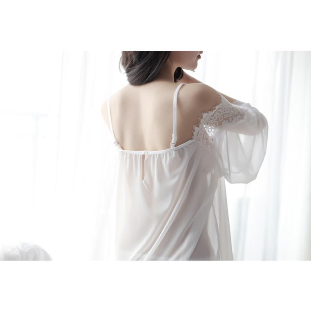 Váy ngủ ren trễ vai (MS 09010) Anna Shop