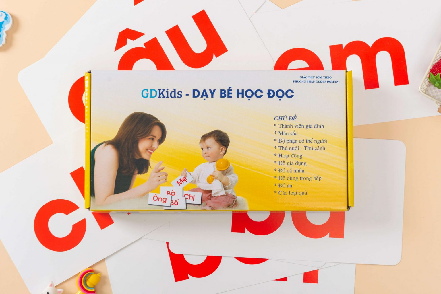 GDKids – Dạy Bé Học Đọc Glenn Doman (100 Thẻ Flashcard)