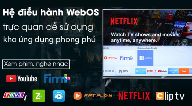 Smart Tivi LG 43 inch 43LM5700PTC có hệ điều hành WebOS 4.5 nhiều tiện ích thông minh, dễ sử dụng