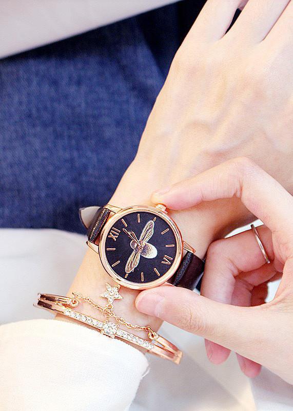 Đồng hồ thời trang nữ dây da mặt ong mật siêu đáng yêu ZO87