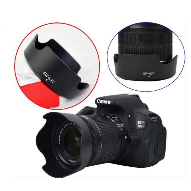 Lens Hood Cho ống Kính Canon 18-55mm STM (Loa che nắng EW-63C)