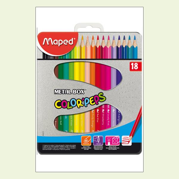 Chì 18 Màu Maped 832015 (Hộp Thiếc)