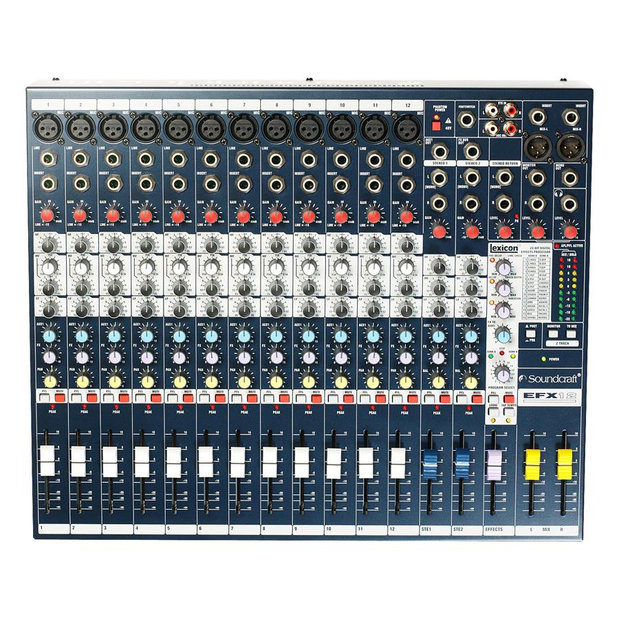 Bộ Trộn Âm Thanh Soundcraft EFX12 Console - Hàng Chính Hãng