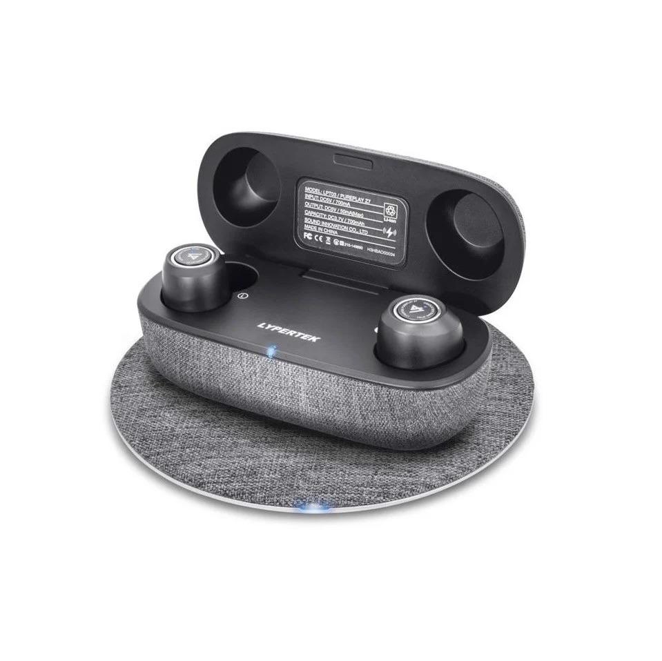 Tai nghe True Wireless Lypertek Pureplay Z7 - Hệ thống loa Hybrid 1 Dynamic + 2 BA, Bluetooth 5.2 hỗ trợ apt-X, Pin 70h, Xuyên âm, Chống nước IPX5, Mic lọc ồn cVC 8.0 - Hàng Chính Hãng