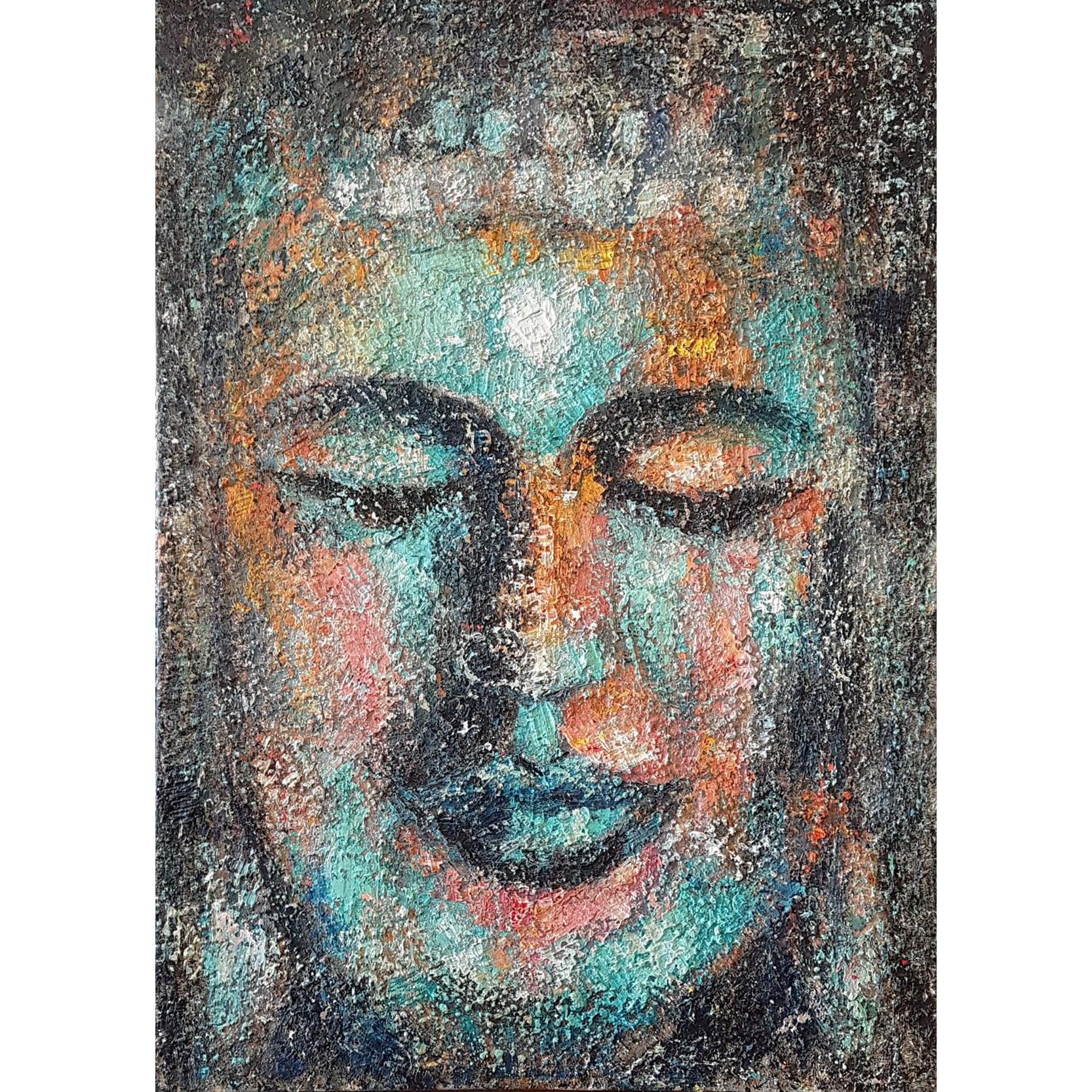 Tranh vẽ sơn dầu nhan Phật