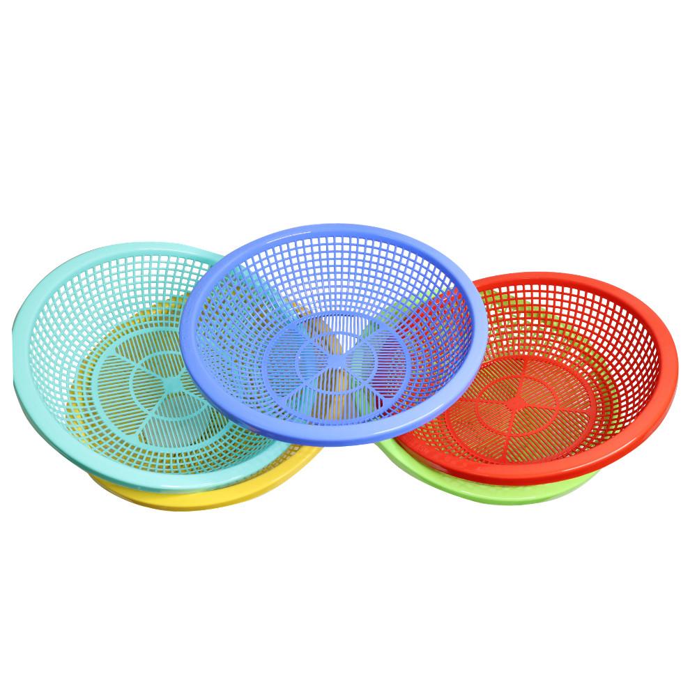 Combo 5 Rổ nhựa tròn 35cm Chấn Thuận Thành đựng đồ đạc, đựng thực phẩm rau củ đa năng tiện lợi hàng Việt Nam chất lượng cao RC3520-5 (nhiều màu)