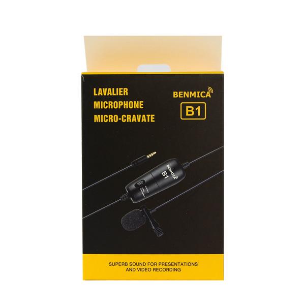 Micro thu âm cài áo cho điện thoại, máy ảnh, máy quay Benmica B1 - Hàng chính hãng