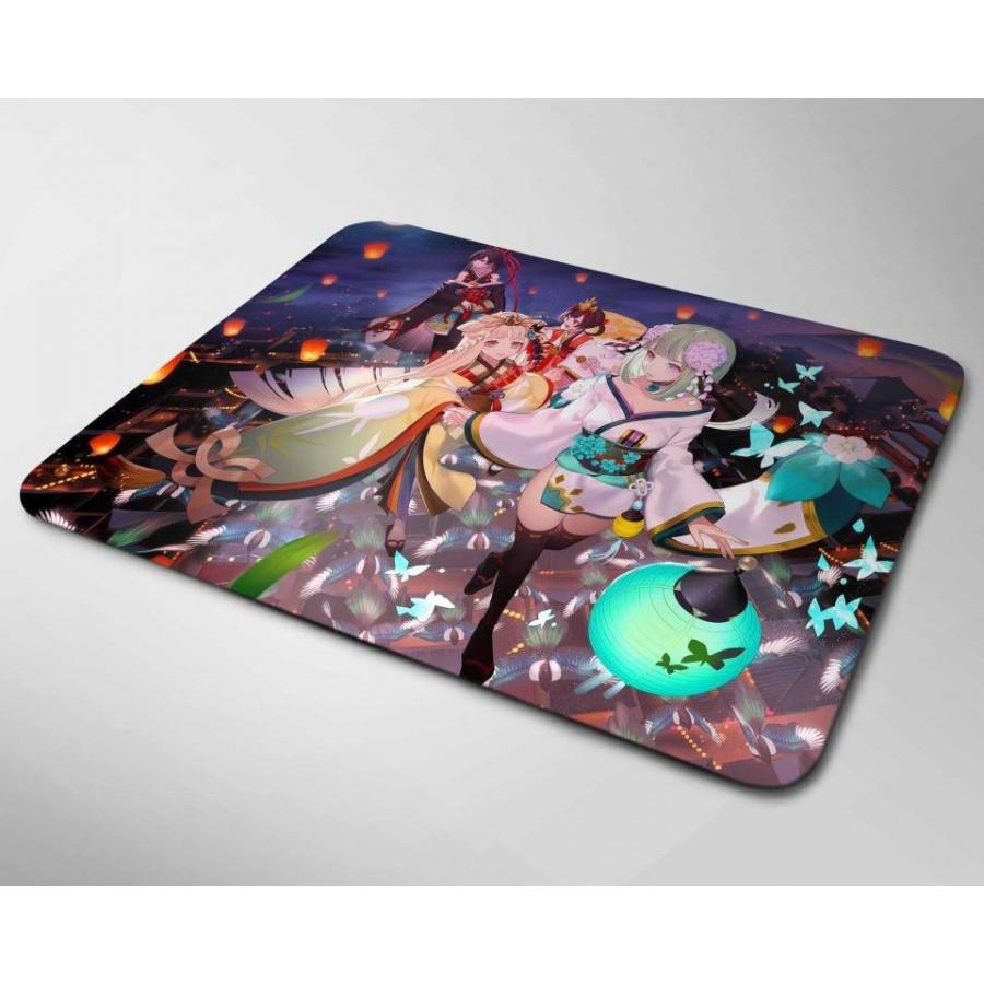 Miếng lót chuột mẫu Anime và Đèn Lồng (20x24cm)
