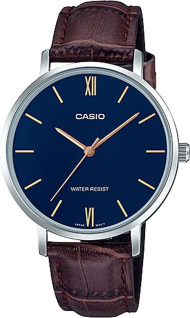 Đồng hồ Casio nữ dây da LTP-VT01L-2BUDF (34mm)