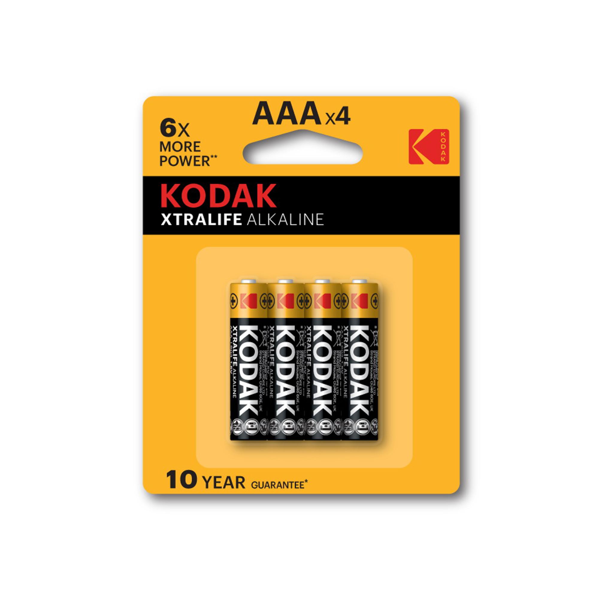 Bộ 4 Pin Kodak Alkaline AAA UBL IB0124