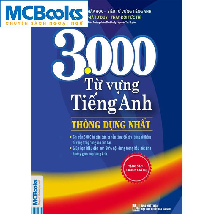 3000 Từ Vựng Tiếng Anh Thông Dụng Nhất - Mcbooks