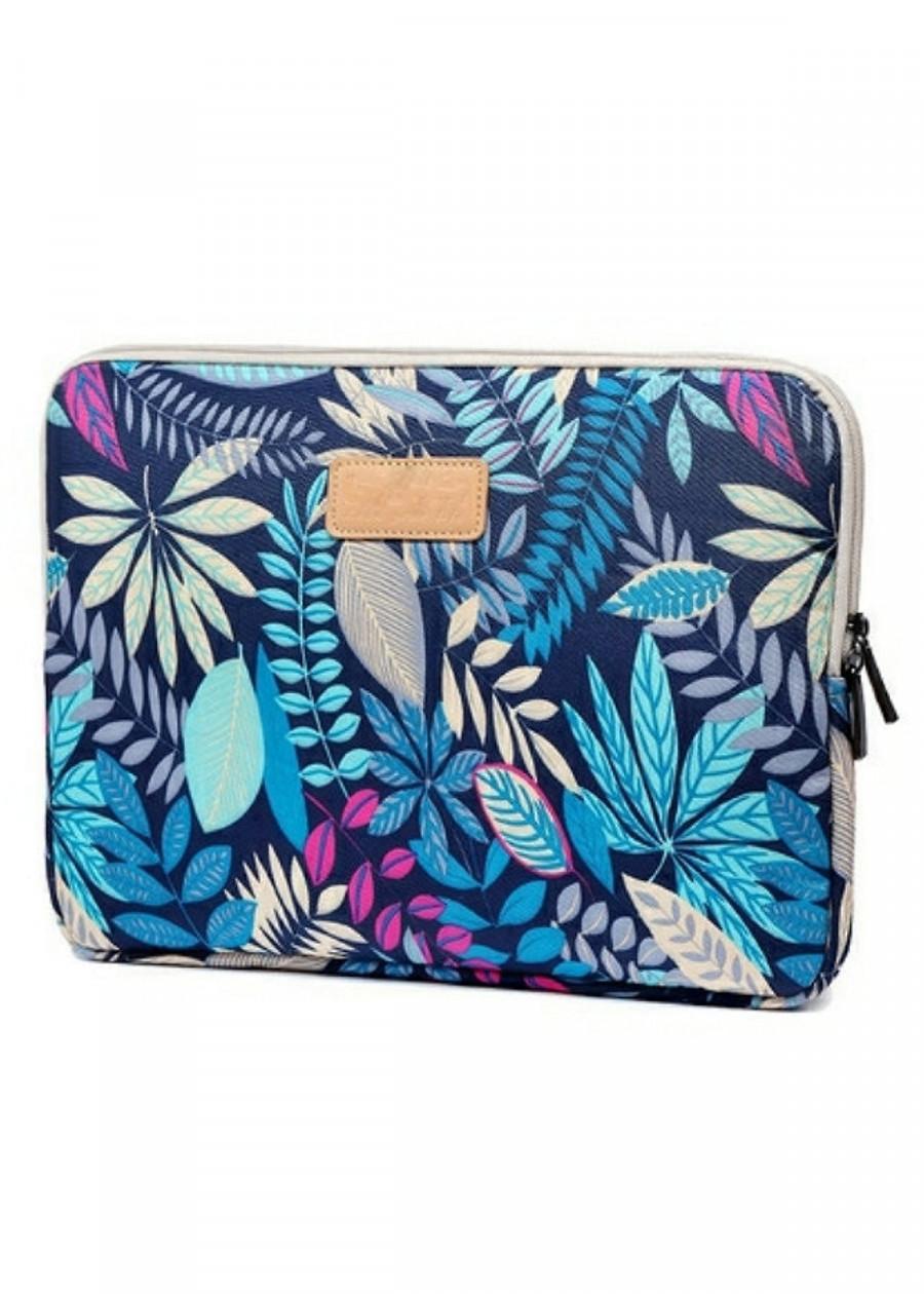 Túi chống sốc laptop, ipad đủ size họa tiết màu Xanh - Đen